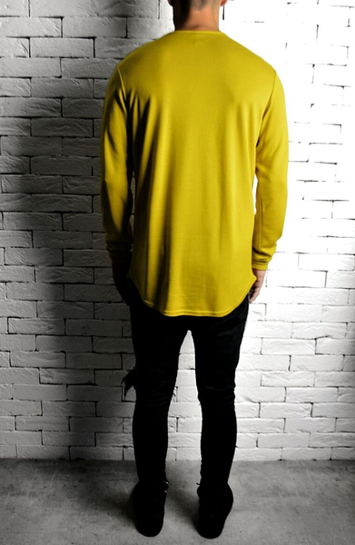 Alex Christopher Mustard Long Sleeve T-Shirt | Mens T-Shirts | ETTO Boutique