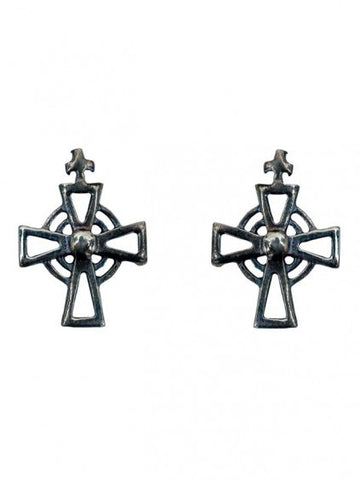AC Stud Earrings - Oxidised