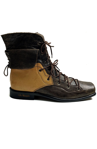 2 Tone Boots - Brown