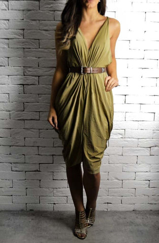 Alex Christopher Athena Dress - Gold