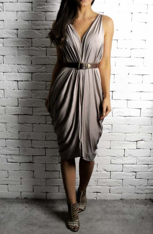 Alex Christopher Athena Dress - Mocha