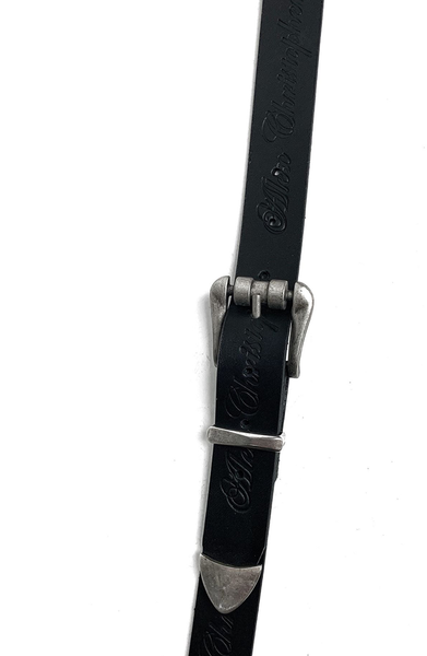 AC Double Buckle Waist Belt - Black and Silver