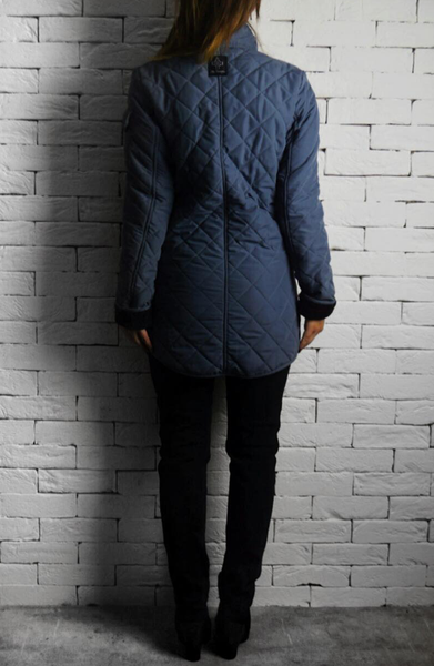 Quilted Jacket - Blue/Grey