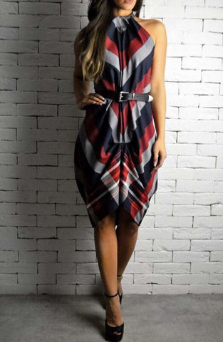 Choker Dress - Nautical Stripe