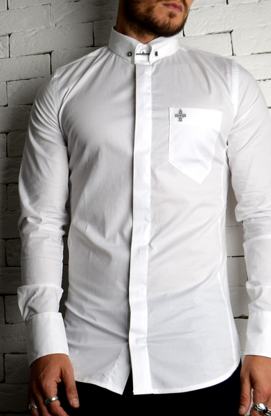 Alex Christopher Collar Pin Shirt | Mens Formal Shirts | ETTO Boutique