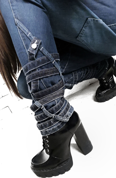 Denim Strap Jeans | Womens Jeans | ETTO Boutique