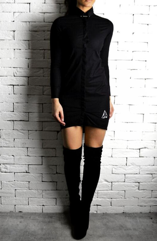 Black Collar Pin Shirt Dress | Boutique Dresses | ETTO Boutique