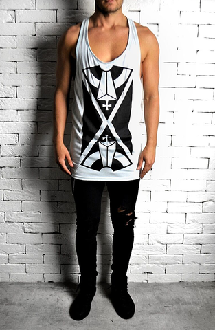 Alex Christopher Duck Egg Directional X Ibiza Vest | Men's Vests | ETTO Boutique