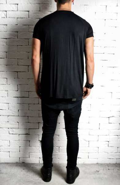 Directional Drape T-Shirt - Black