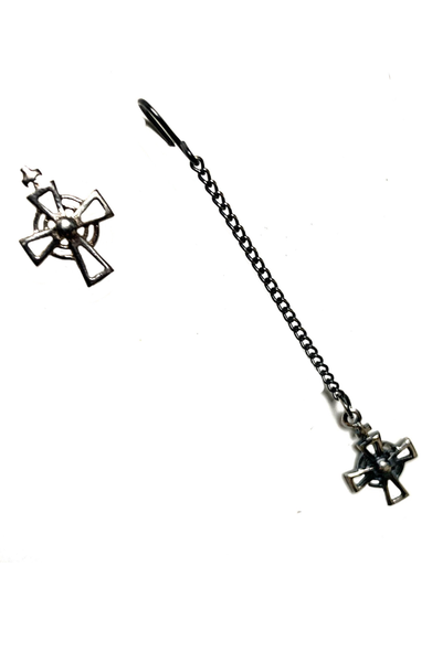 AC Stud and Chain Earring