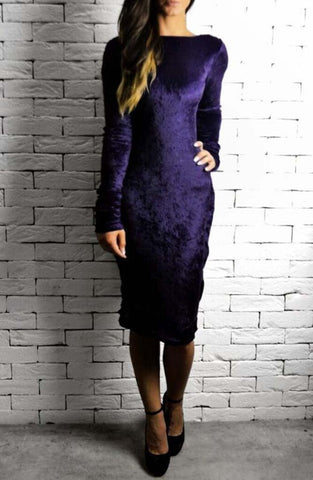 Purple Velvet Eve Dress | Dresses for the Races | ETTO Boutique