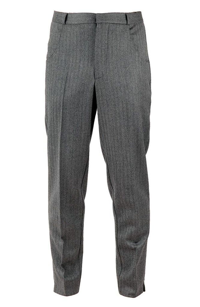 Tailored Suit Trousers - Grey Herringbone