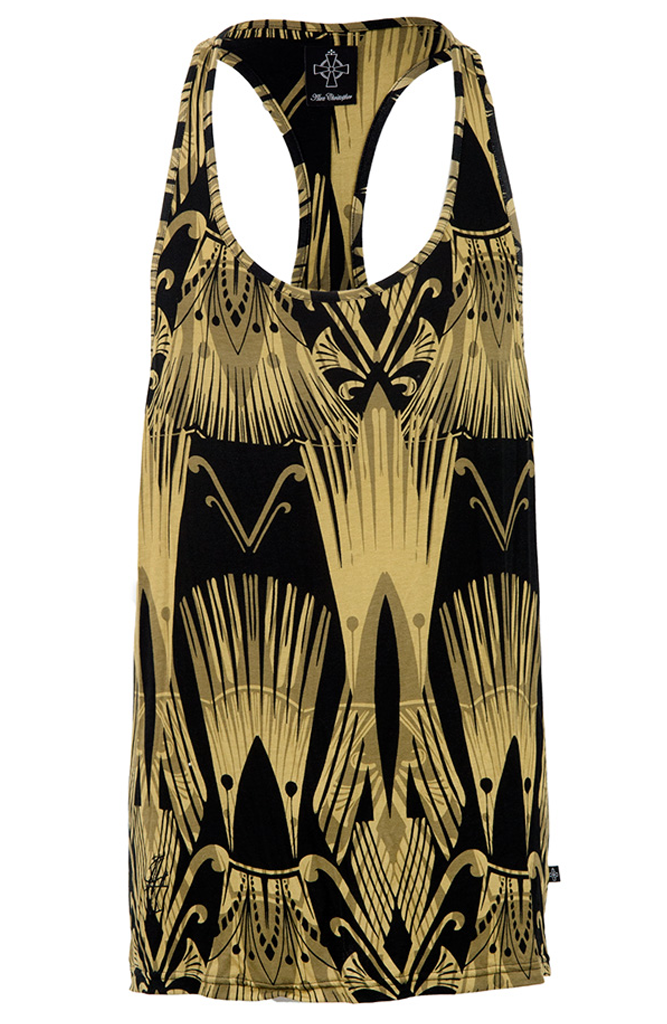 AC Sketch Logo Ibiza Vest - Black and Gold