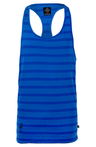 Ibiza Vest - Blue Tri Stripe | Mens Vests | ETTO Boutique