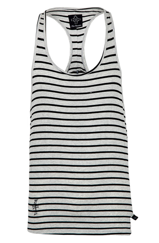 AC Sketch Logo ibiza Vest - Light Grey/Black Stripe