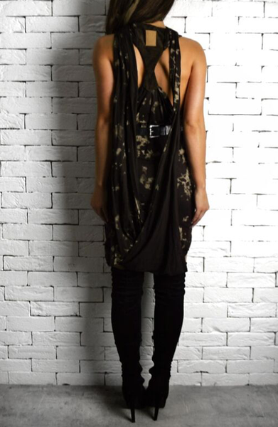 Alex Christopher Leather Back Dress - Women's Dresses