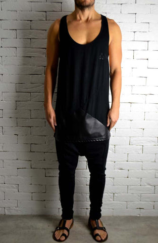 Alex Christopher Leather Ibiza Vest | Mens Vests | ETTO Boutique