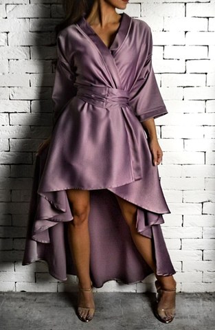 Lilac AC Wrap Dress | Unique Dresses | ETTO Boutique
