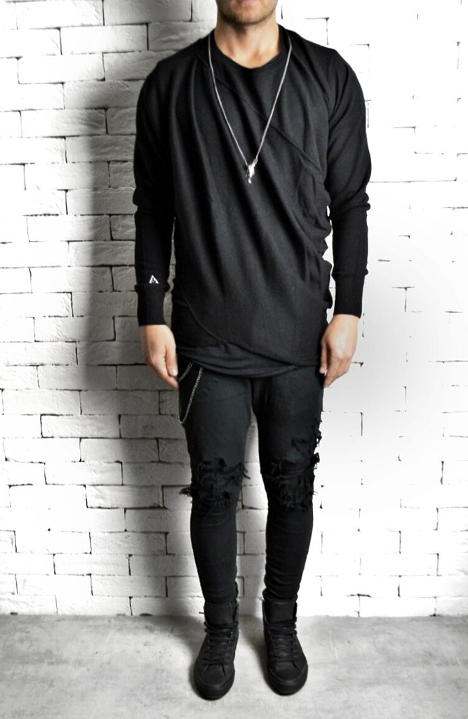Merino Wool Jumper - Black