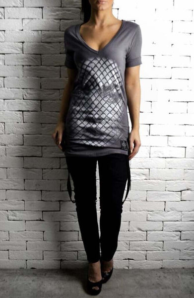 Mesh Face T-Shirt | women's t-shirts and tops | ETTO Boutique