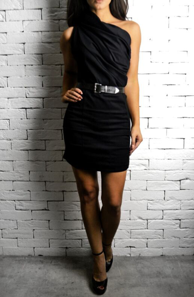 alex christopher one shoulder dress