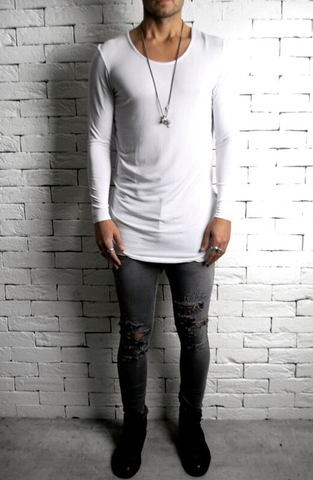 Ripped Skinnys - Grey Distressed