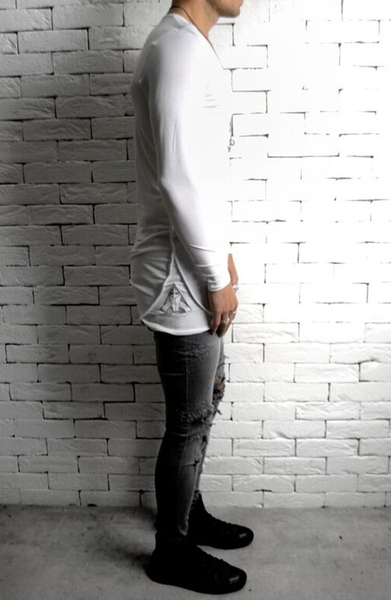 Ripped Skinny's - Grey Distressed
