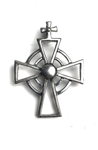 AC Silver Brooch Pin