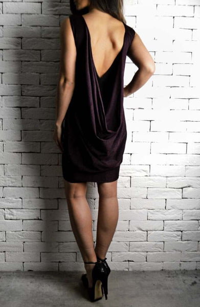 Space Dress Black/Maroon | Wedding Guest Dresses | ETTO Boutique