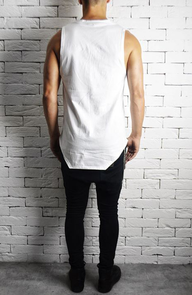 White Square Neck Vest | Mens Vests | ETTO Boutique