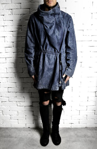 Washed Denim Trench Coat | Mens Trench Coats | ETTO Boutique
