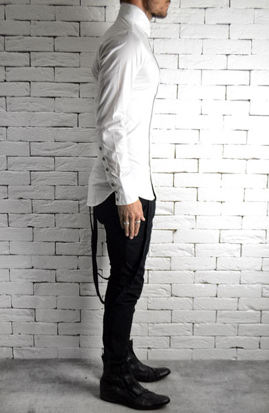 Wave Button Shirt - White