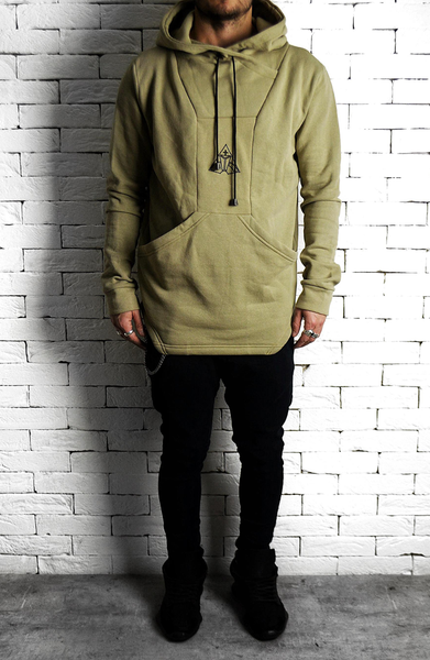 Square Back Hoodie - Stone