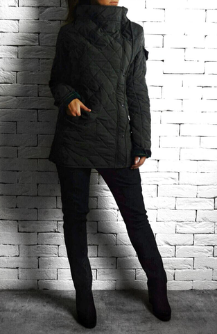 Quilted Jacket - Charcoal