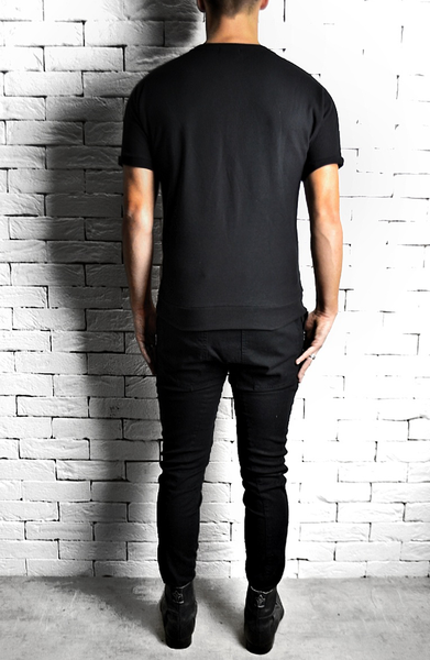 Alex Christopher Herringbone Panel T-Shirt | Mens T-Shirts | ETTO Boutique