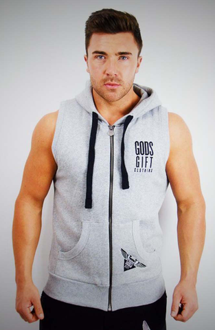 GG Sleeveless Premium Gym Hoodie | Gym Clothing | ETTO Boutique