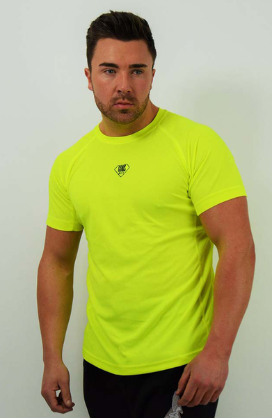 GG Gym Small Logo T-Shirt - Bright Yellow