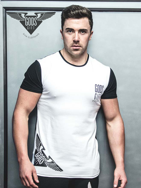 GG Hem Logo Crew Neck T-Shirt | Gym Clothing | ETTO Boutique