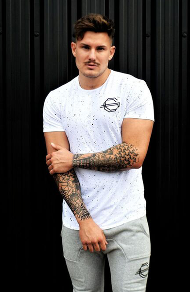 Gods Gift Paint Crew - White | Mens T-Shirts | ETTO Boutique