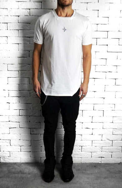 Square Neck T-Shirt - White