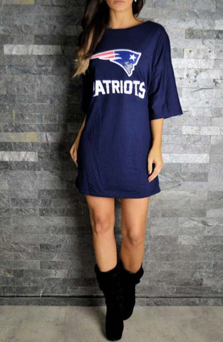 Patriots Oversized T-Shirt | Womens Rock T-Shirts |  ETTO Boutique