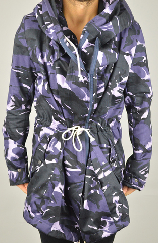 Purple Camo Trench Coat | Mens Trench Coats | ETTO Boutique