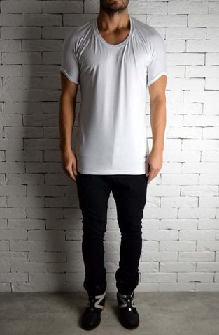 Roll Shoulder T-Shirt - White