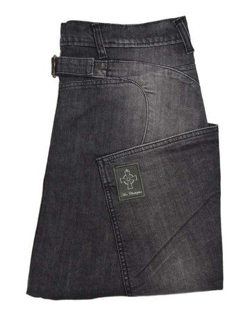 Side Pocket Jean - Black Distressed