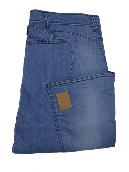 Side Pocket Jean - Bleached Blue