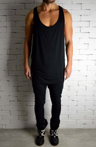 Alex Christopher Black Ibiza Vest | Mens Vests | ETTO Boutique