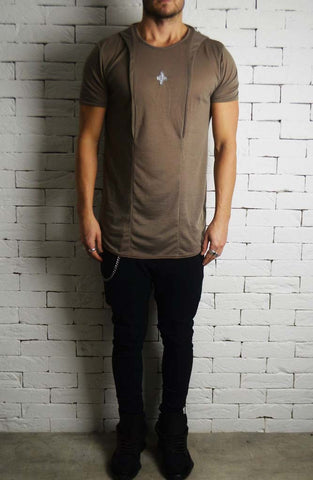 Slub Hooded T-Shirt - Stone