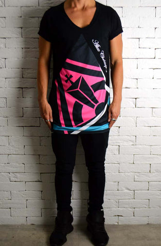 Sublimation V Neck - Retro