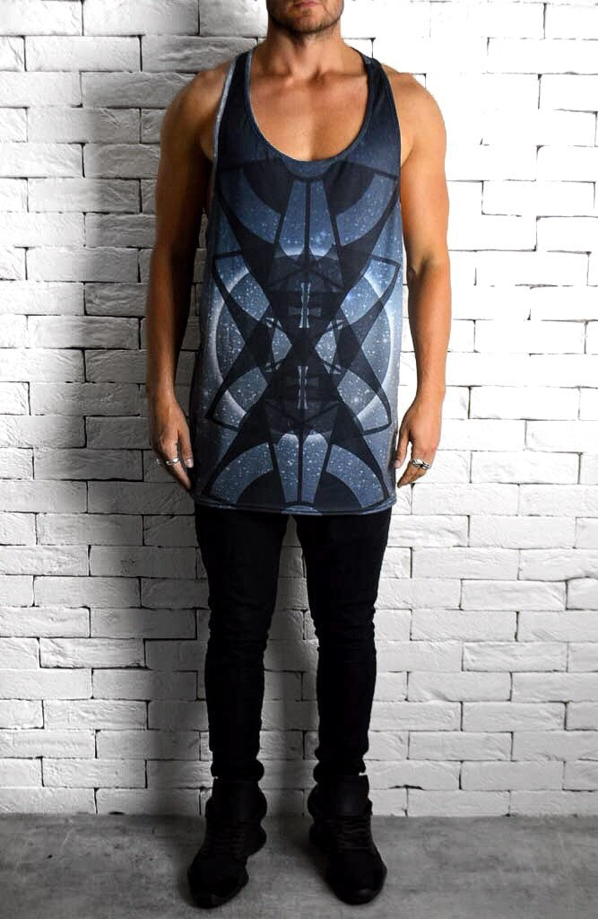 Alex Christopher Sublimation Midnight  Print Ibiza Vest | Men's Vest | ETTO Boutique