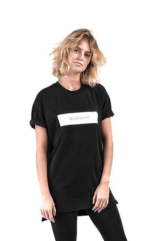 Total Black Minimalism T-Shirt